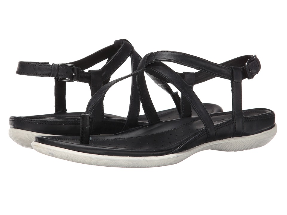 ECCO - Flash T-Strap Sandal (Black) Women