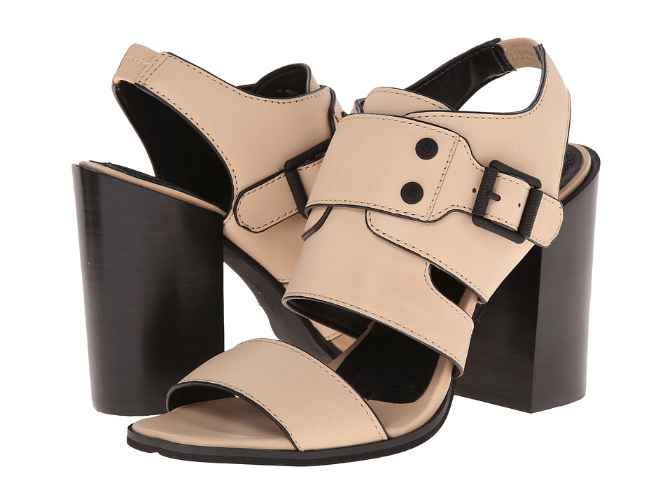 Calvin Klein Jeans Womens Bellanyp Nude Vachetta Leather - Sandals