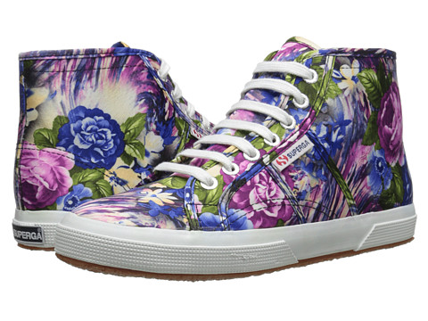 Superga - 2095 Cotw Fabric 28 (Violet Flower Multi) Women's Lace up casual Shoes