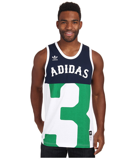 adidas Skateboarding - B-Ball Jersey (Collegiate Navy/Fairway) Men's Sleeveless