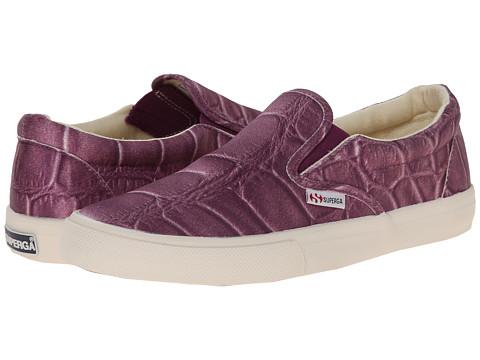 Superga - 2311 Fabricsilkcoccow (Plum) Women's Lace up casual Shoes