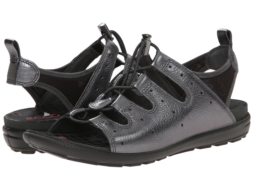 ECCO - Jab Toggle Sandal (Dark Shadow/Metallic/Licorice) Women