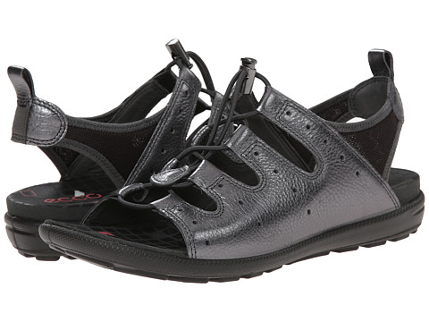 ECCO - Jab Toggle Sandal (Dark Shadow/Metallic/Licorice) Women's Sandals