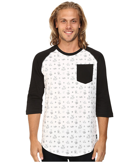 adidas Skateboarding - Salty Plaza Baseball Tee (White/Black) Men