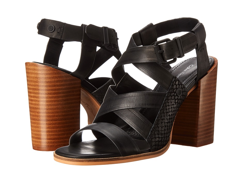 Calvin Klein Jeans - Brena (Black Leather) High Heels