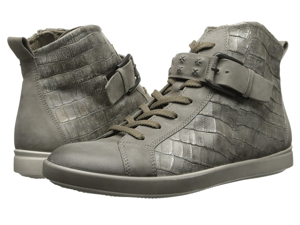 ECCO - Aimee High Top Sneaker (Moon Rock/Moon Rock) Women