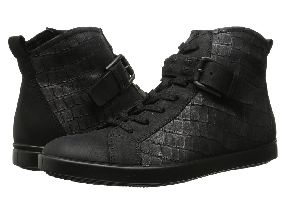 ECCO - Aimee High Top Sneaker (Black/Black) Women