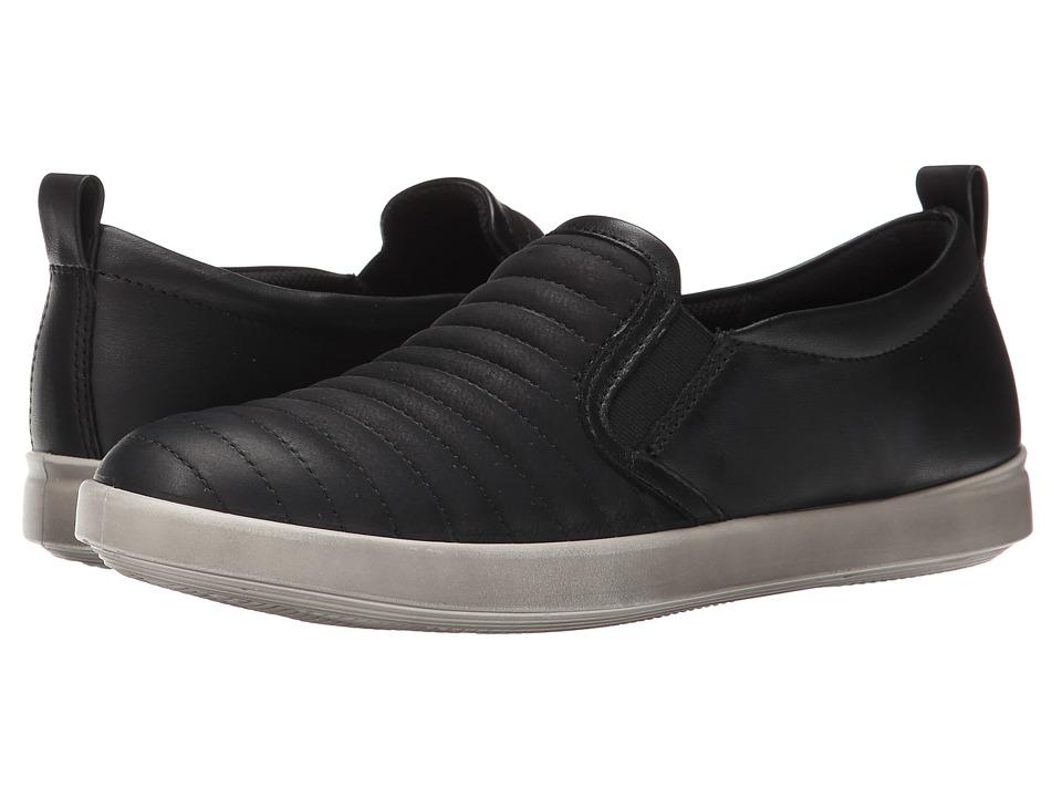 ECCO - Aimee Elastic Slip-On (Black/Black) Women