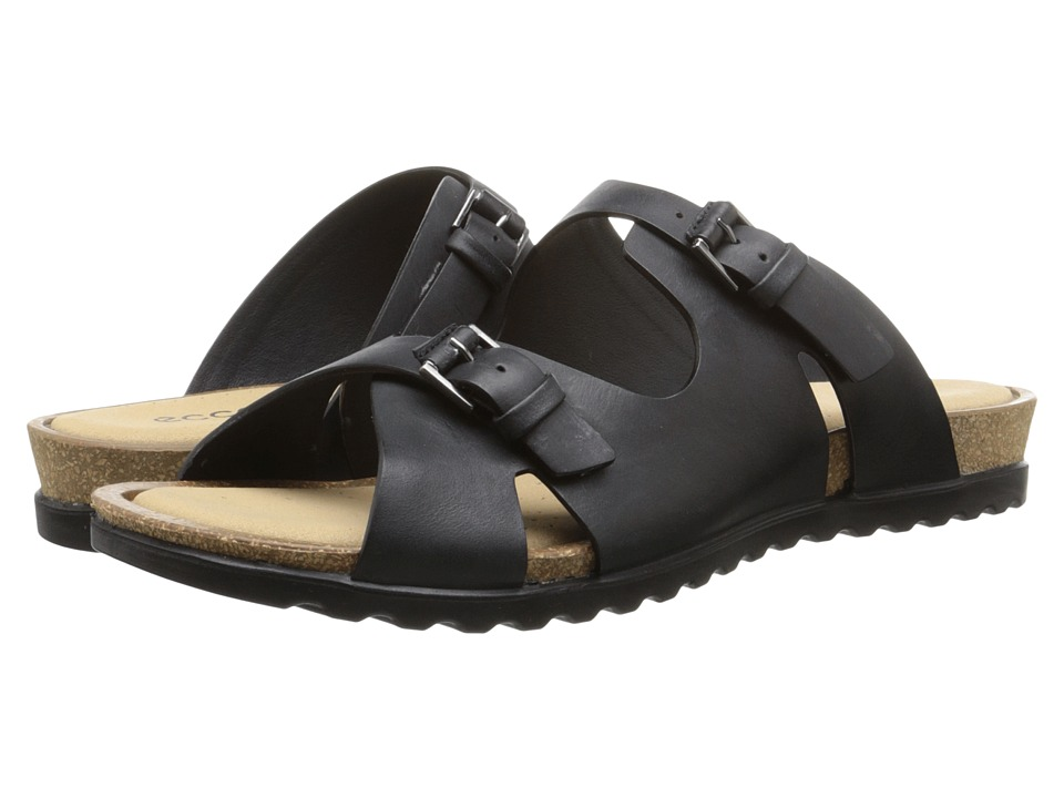 ECCO - Dagmar Buckle Slide (Black) Women's Sandals