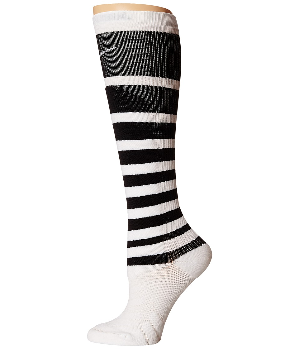 Nike - Elite High Intensity Knee High (White/Black/White) Women's Knee High Socks Shoes
