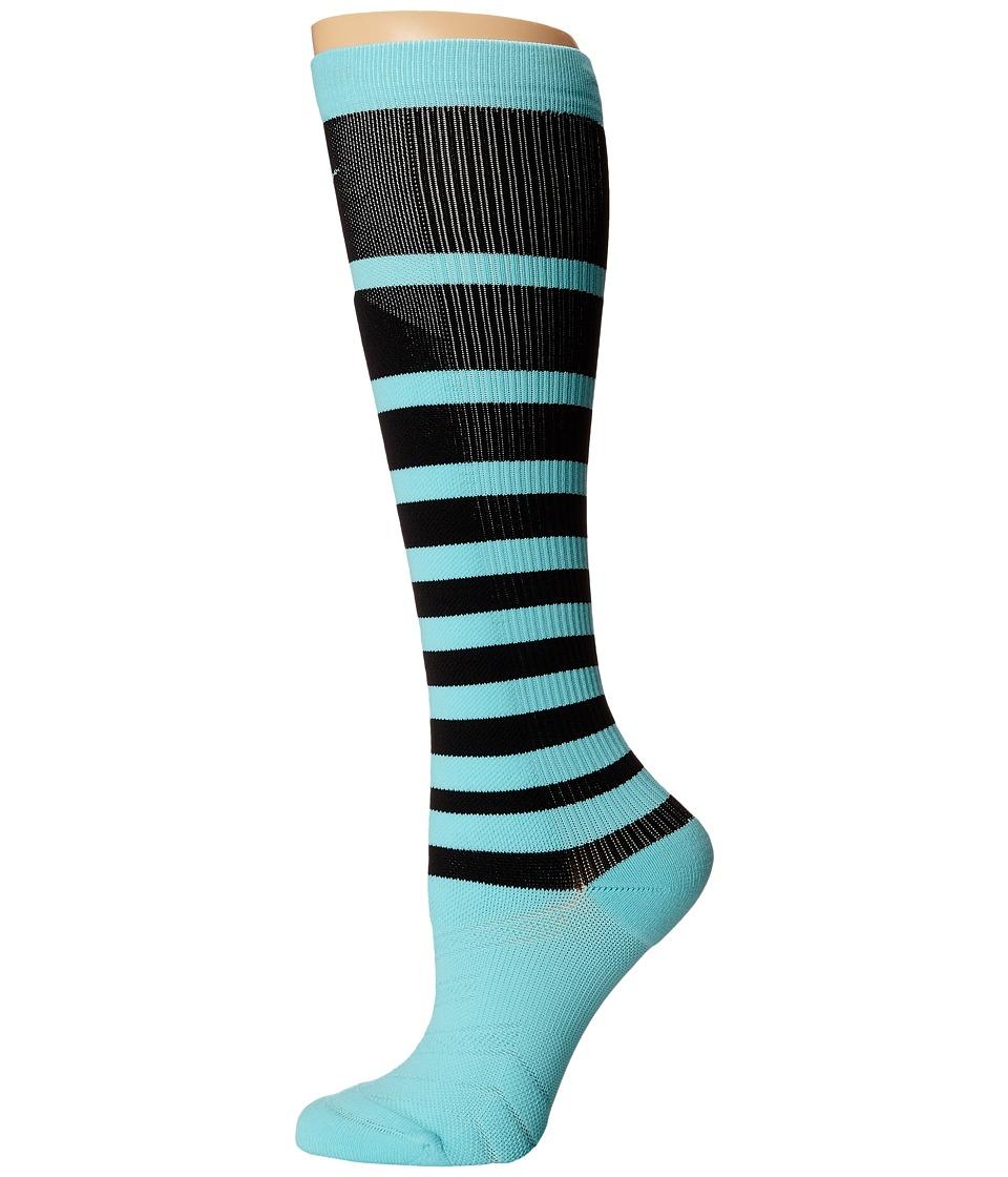 Nike - Elite High Intensity Knee High (Light Aqua/Black/Light Aqua) Women's Knee High Socks Shoes