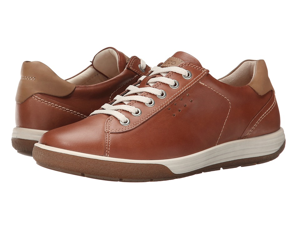 ECCO - Chase II Tie (Mahogany) Women's Lace up casual Shoes