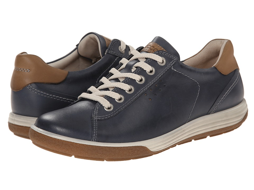 ECCO - Chase II Tie (Marine) Women's Lace up casual Shoes
