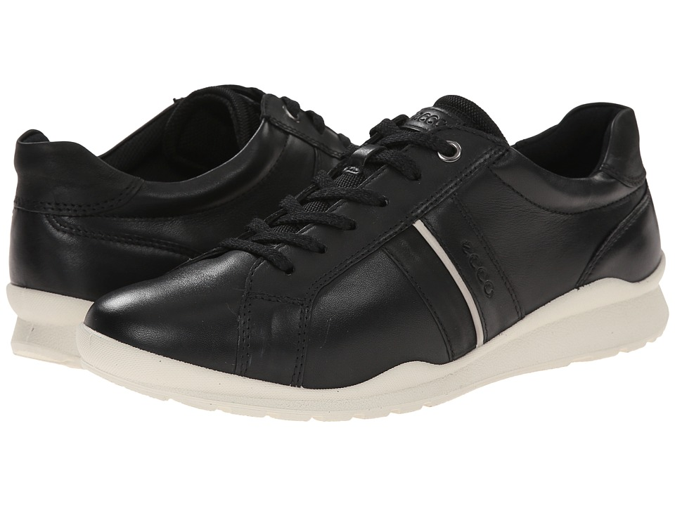 ECCO - Mobile III Casual Sneaker (Black) Women's Lace up casual Shoes