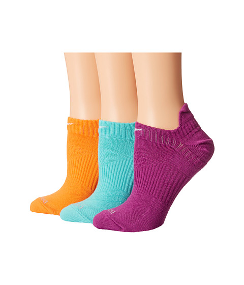 Nike - Dri-Fit Lightweight No Show 3-Pair Pack (Medium Berry/White/Light Aqua/White/Bright Citrus/White) Women's No Show Socks Shoes