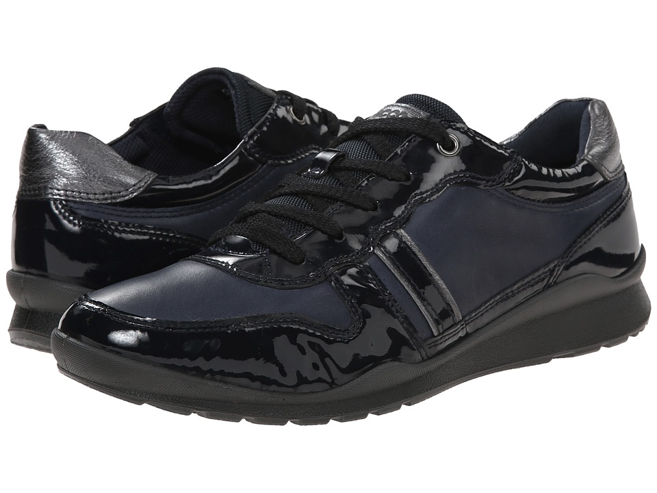ECCO Mobile III Premium Sneaker (Marine/Marine/Dark Shadow Metallic) Women