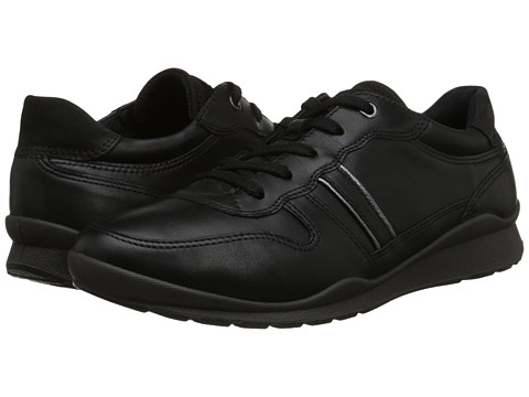ECCO - Mobile III Premium Sneaker (Black/Dark Shadow Metallic/Black) Women's Lace up casual Shoes