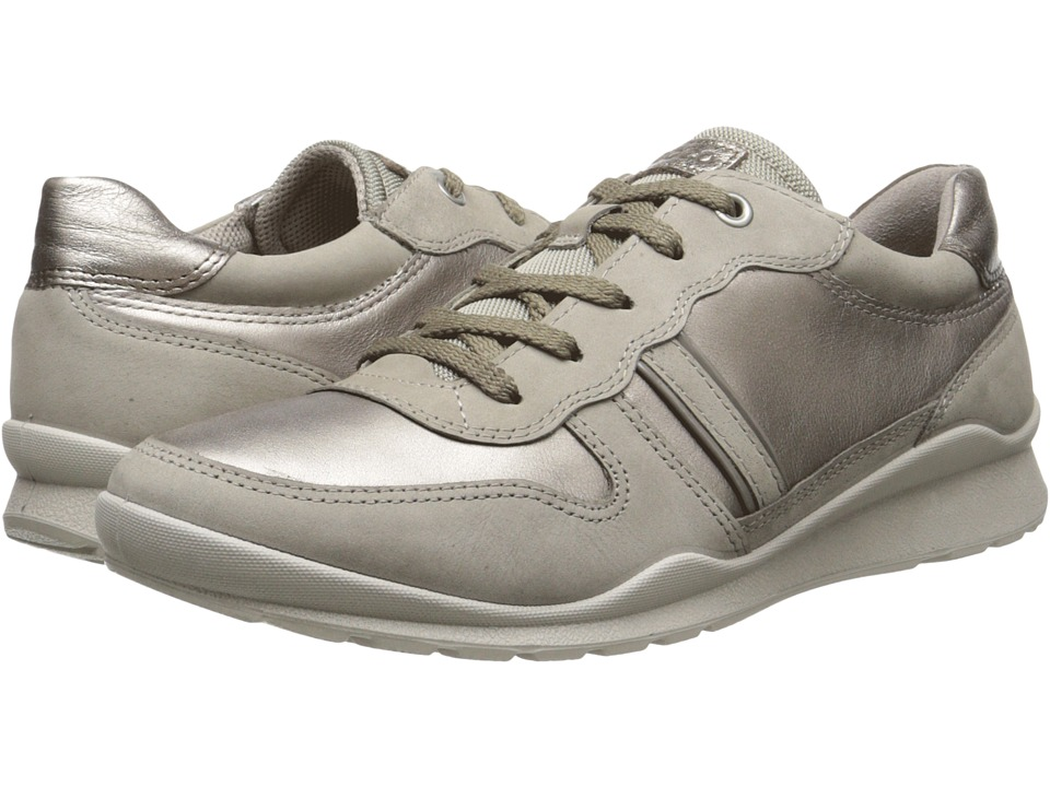ECCO - Mobile III Premium Sneaker (Moon Rock/Moon Rock/Warm Grey/Warm Grey Metallic) Women's Lace up casual Shoes