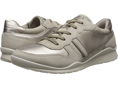 ECCO - Mobile III Premium Sneaker (Moon Rock/Moon Rock/Warm Grey/Warm Grey Metallic) Women