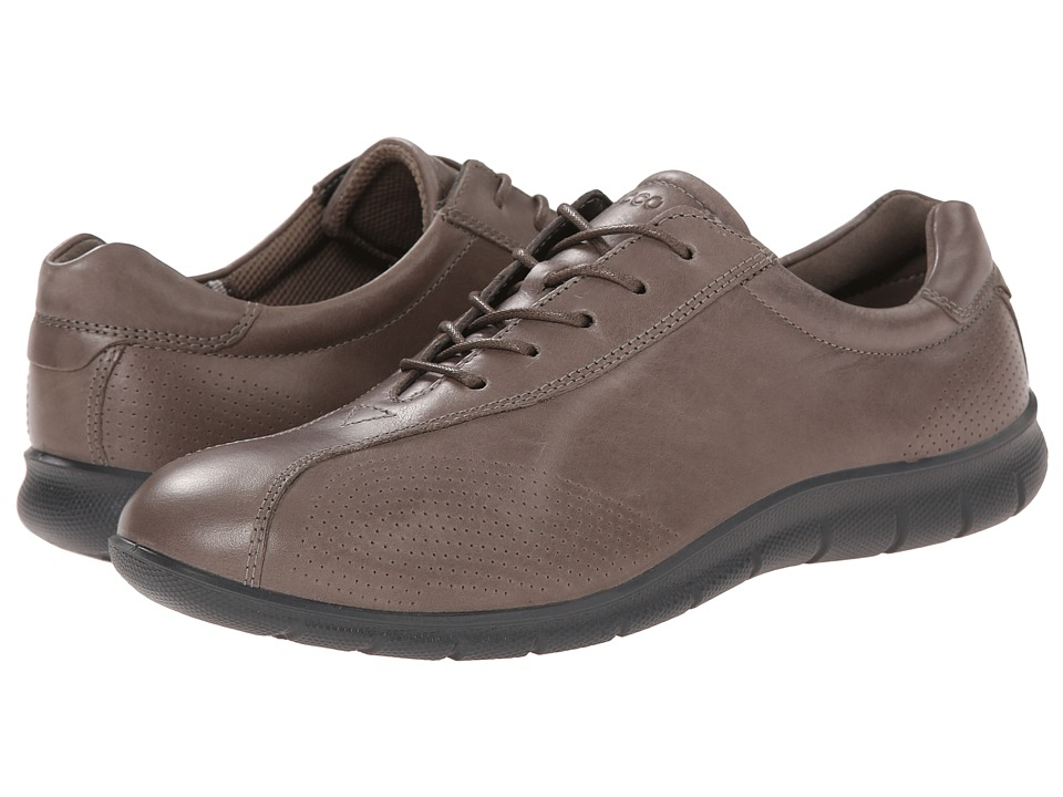 ECCO - Babett Tie (Warm Grey) Women's Lace up casual Shoes