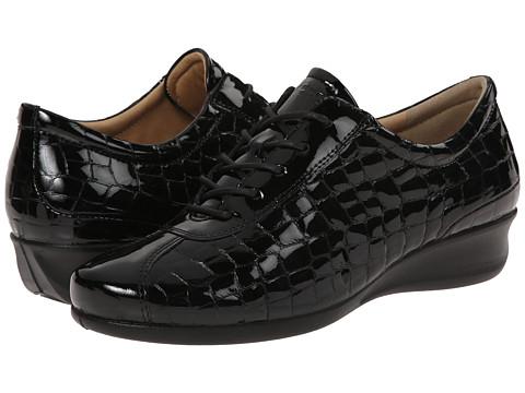 ECCO - Abelone Tie (Black/Black) Women's Wedge Shoes