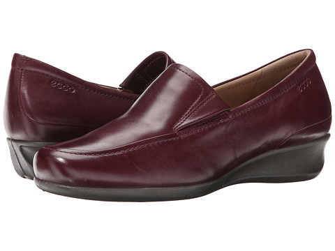 ECCO - Abelone Slip On (Bordeaux) Women's Wedge Shoes