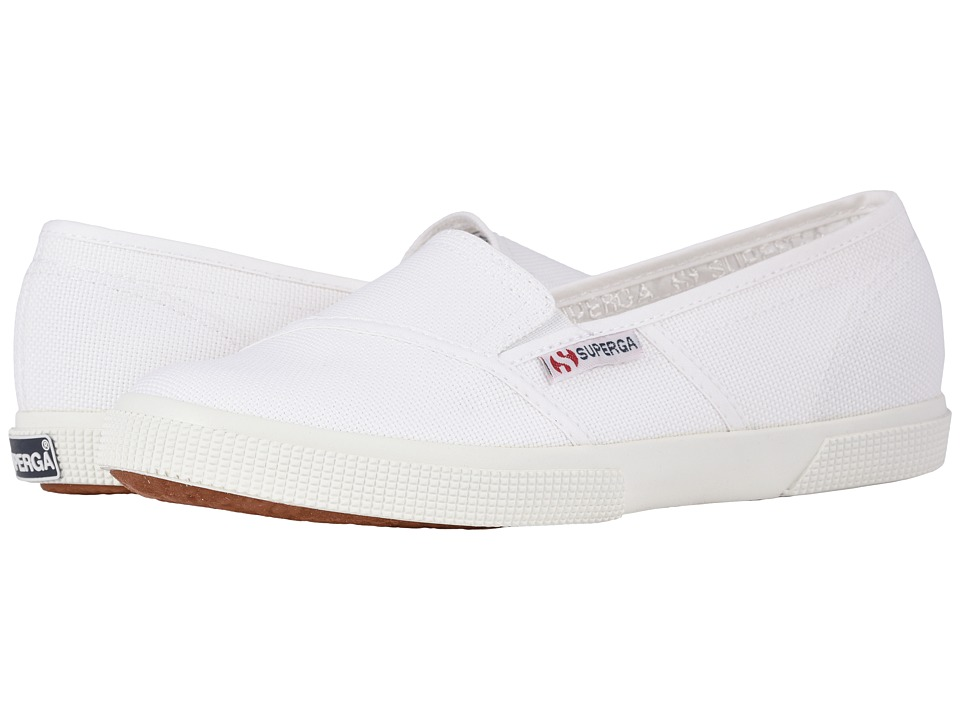 Superga - 2210 COTW Slip-On (White) Women's Slip on Shoes