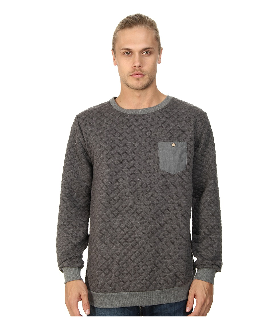 Sovereign Code - Gravel Crew Neck Sweatshirt (Charcoal) Men's Sweatshirt
