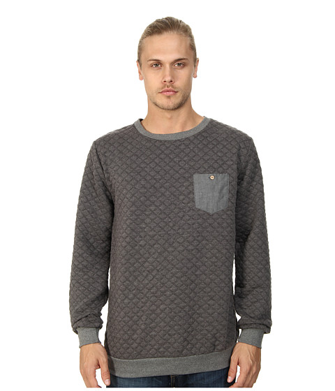 Sovereign Code - Gravel Crew Neck Sweatshirt (Charcoal) Men