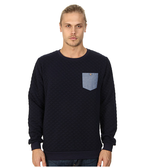 Sovereign Code - Gravel Crew Neck Sweatshirt (Navy) Men