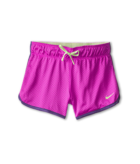Nike Kids - 4 Mesh Short (Little Kids/Big Kids) (Fuchsia Flash/Court Purple/Key Lime) Girl