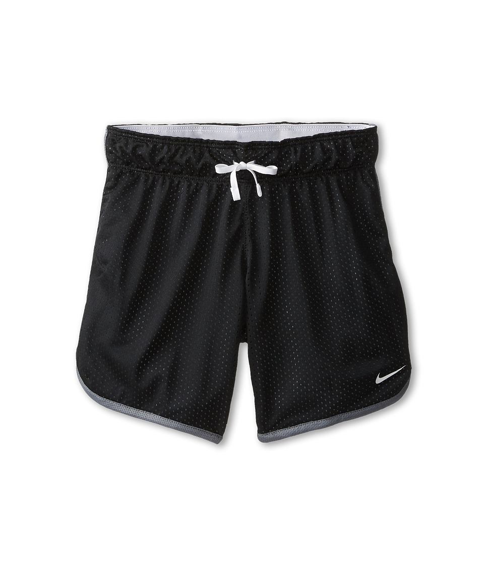 Nike Kids - 7 Mesh Short (Little Kids/Big Kids) (Black/Cool Grey/White/White) Girl's Shorts