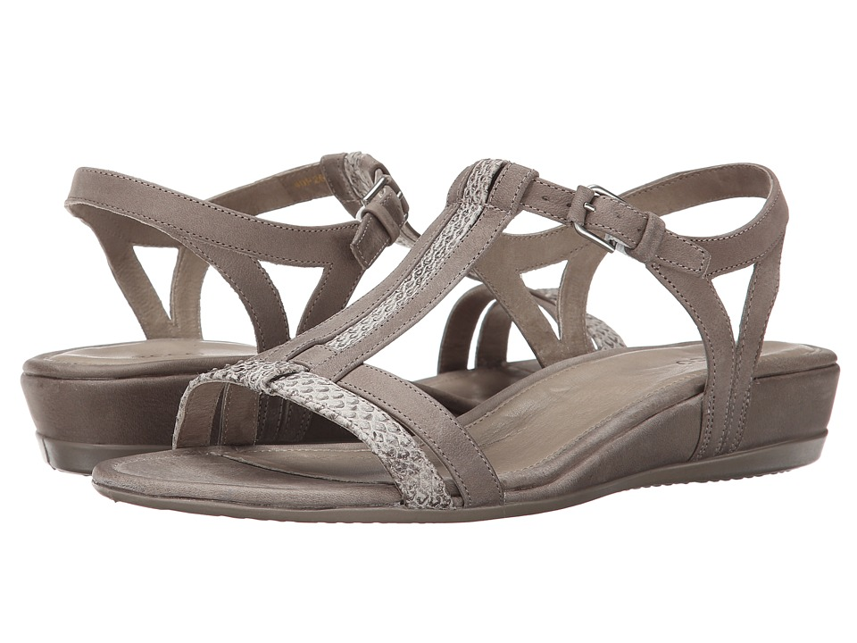 ECCO - Touch 25 T-Strap Slide (Moon Rock/Moon Rock) Women