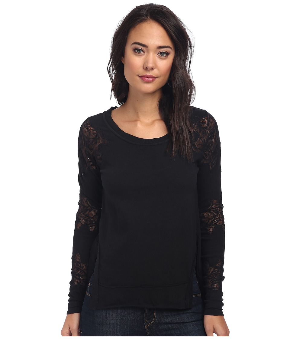 Free People - Grandpa Jersey Outer Sunset Top (Black) Women's Long Sleeve Pullover