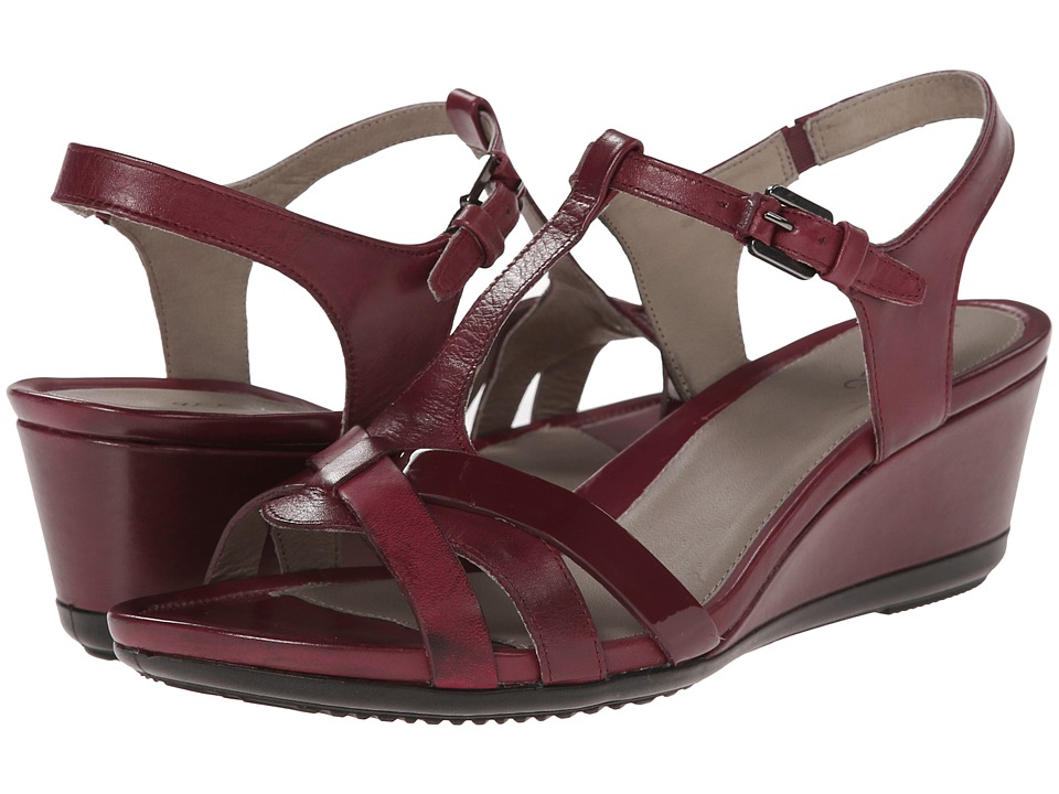 ECCO - Touch 45 T-Strap Sandal (Morillo/Morillo) Women's Wedge Shoes