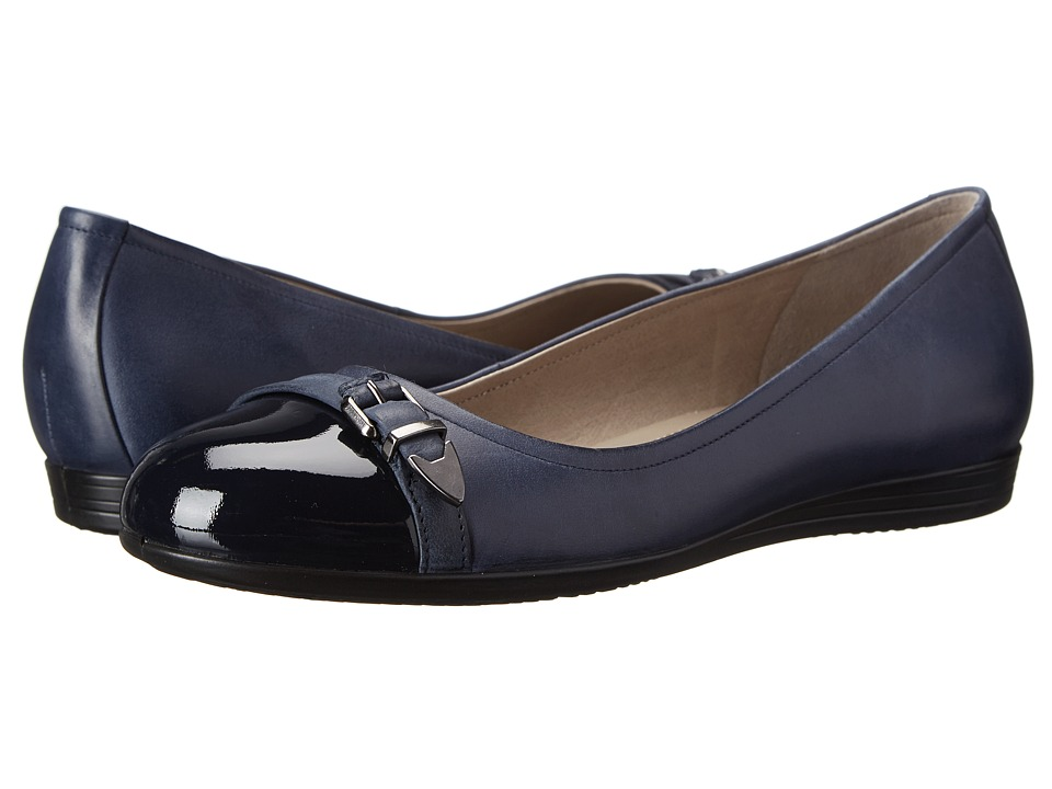 ECCO - Touch 15 Scale Ballerina (Marine/Navy/Marine) Women's Slip on Shoes