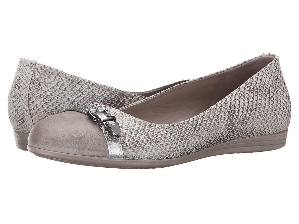 ECCO - Touch 15 Scale Ballerina (Moon Rock Alusilver/Moon Rock) Women's Slip on Shoes