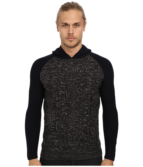 Sovereign Code - Old Town Cable Knit Hooded Sweater (Black) Men