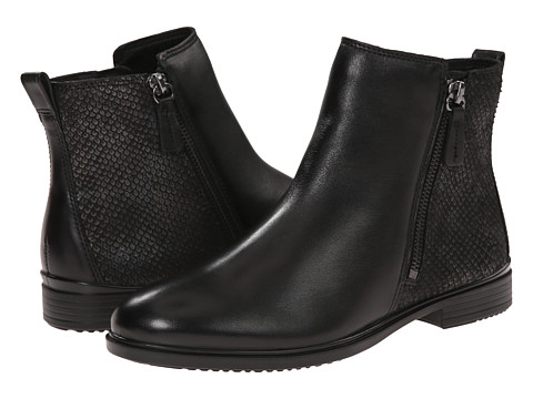 ECCO - Touch 15 Scale Bootie (Black/Black) Women's Zip Boots