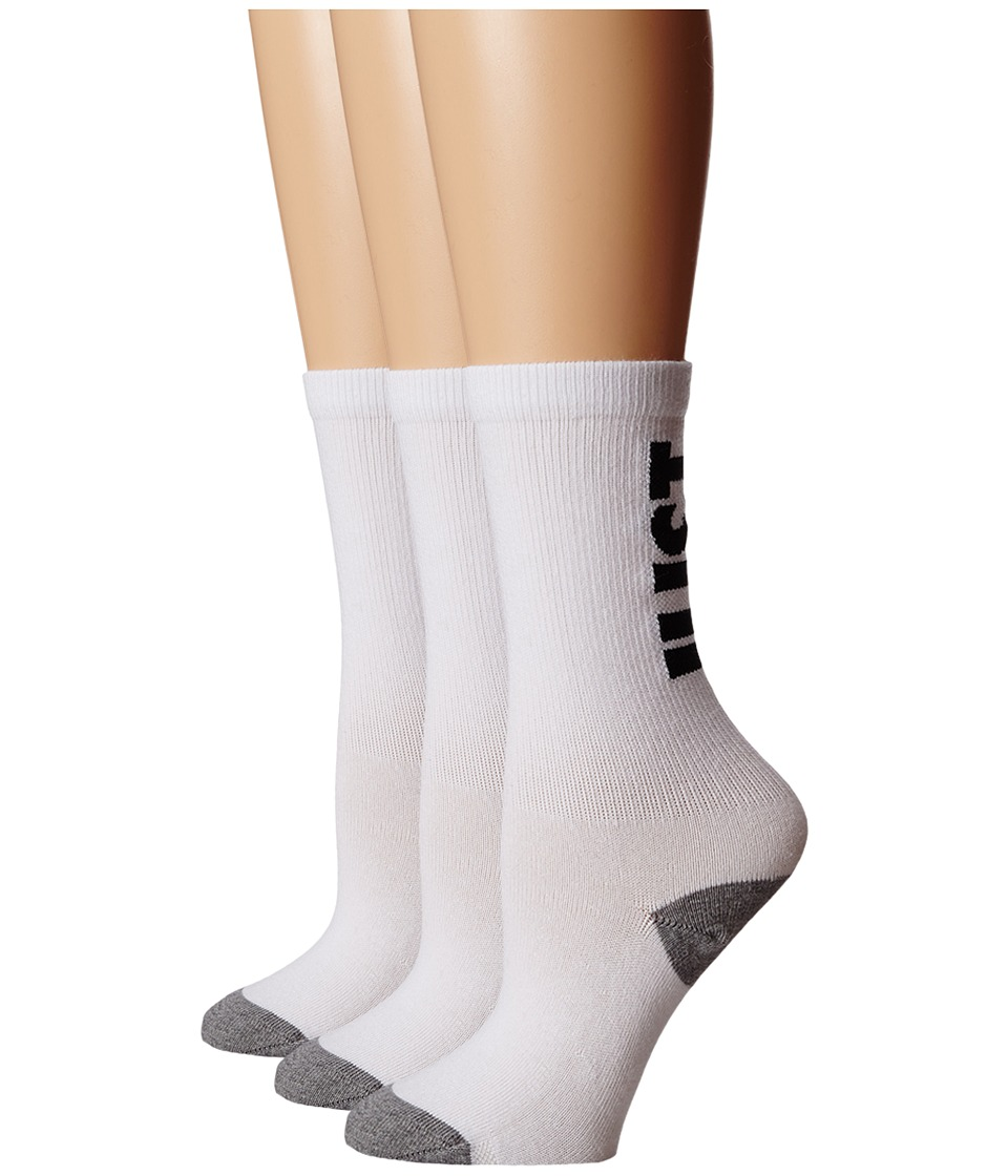 Nike - Classic Just Do It (White/Dark Grey Heather/Black) Crew Cut Socks Shoes