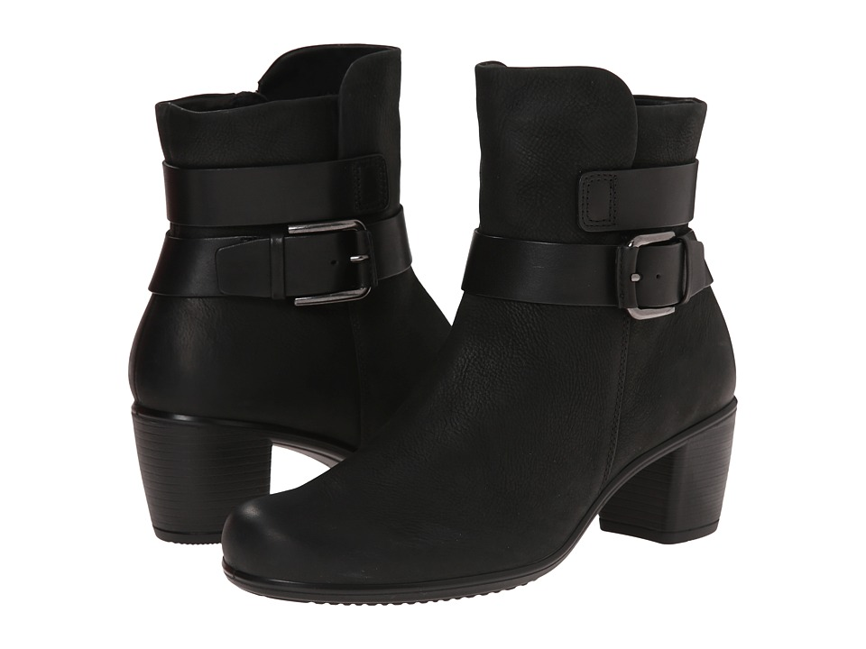 ECCO - Touch 55 Mid Cut Bootie (Black/Black) Women