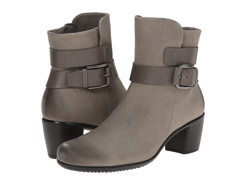 ECCO - Touch 55 Mid Cut Bootie (Moon Rock/Warm Grey) Women's Dress Zip Boots