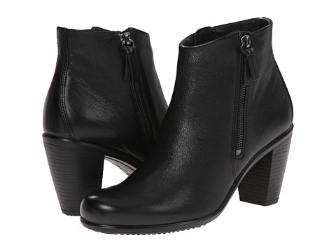 ECCO - Touch 75 Ankle Bootie (Black Cow Nubuck) Women's Shoes