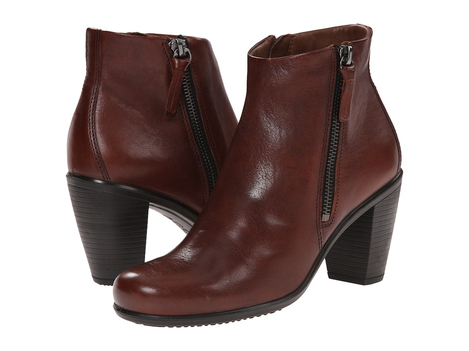 ECCO - Touch 75 Ankle Bootie (Mahogany Cow Nubuck) Women's Shoes
