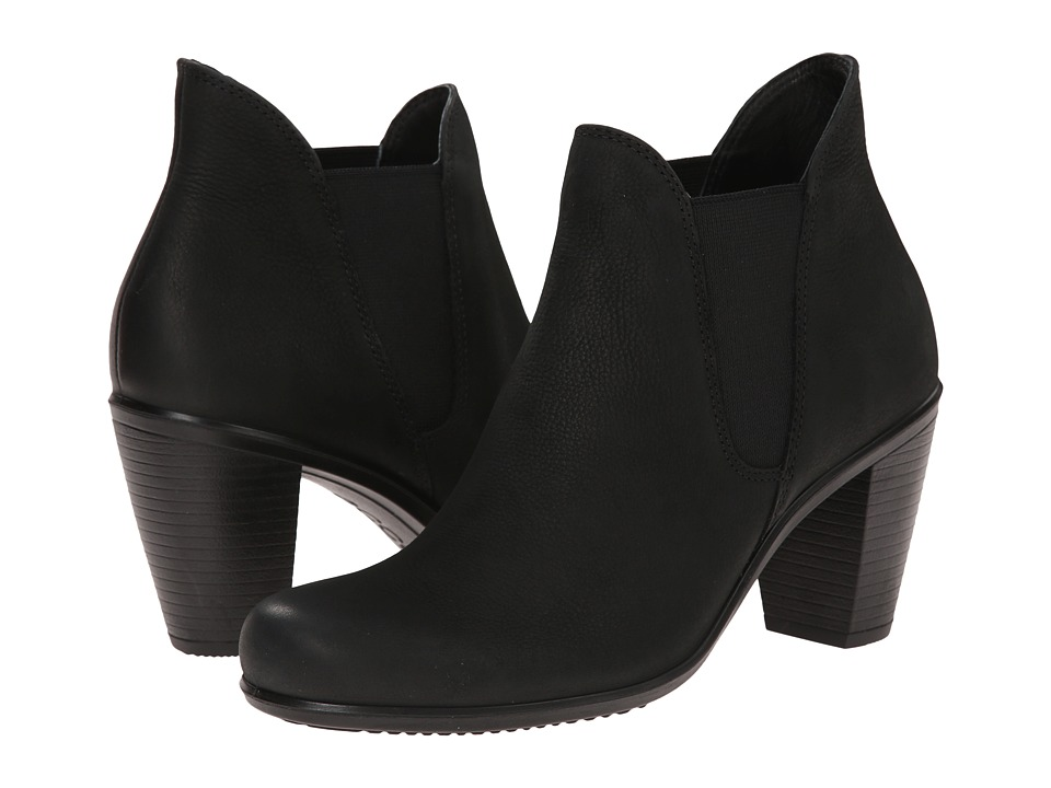 ECCO Touch 75 Chelsea Bootie (Black) Women