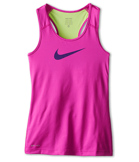 Nike Kids - Pro Tank (Little Kids/Big Kids) (Fuchsia Flash/Key Lime/Court Purple) Girl's Sleeveless