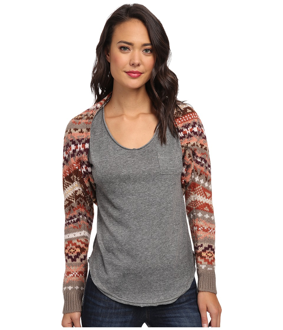 Free People - Carnival Shrug Sweater (Taupe Combo) Women's Sweater