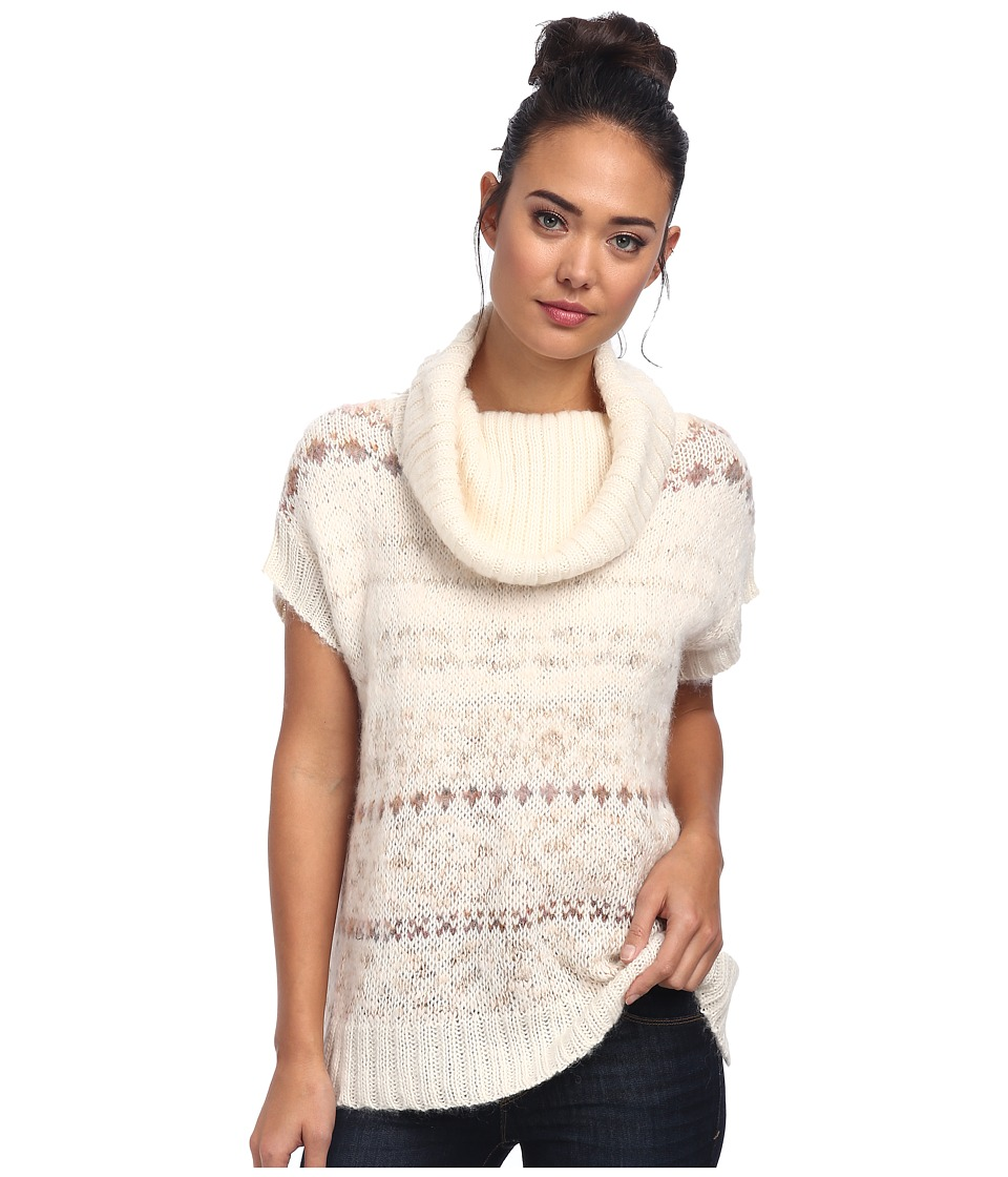 Free People - Snow Bunny Turtle Neck Sweater Vest (Ivory Combo) Women's Sweater