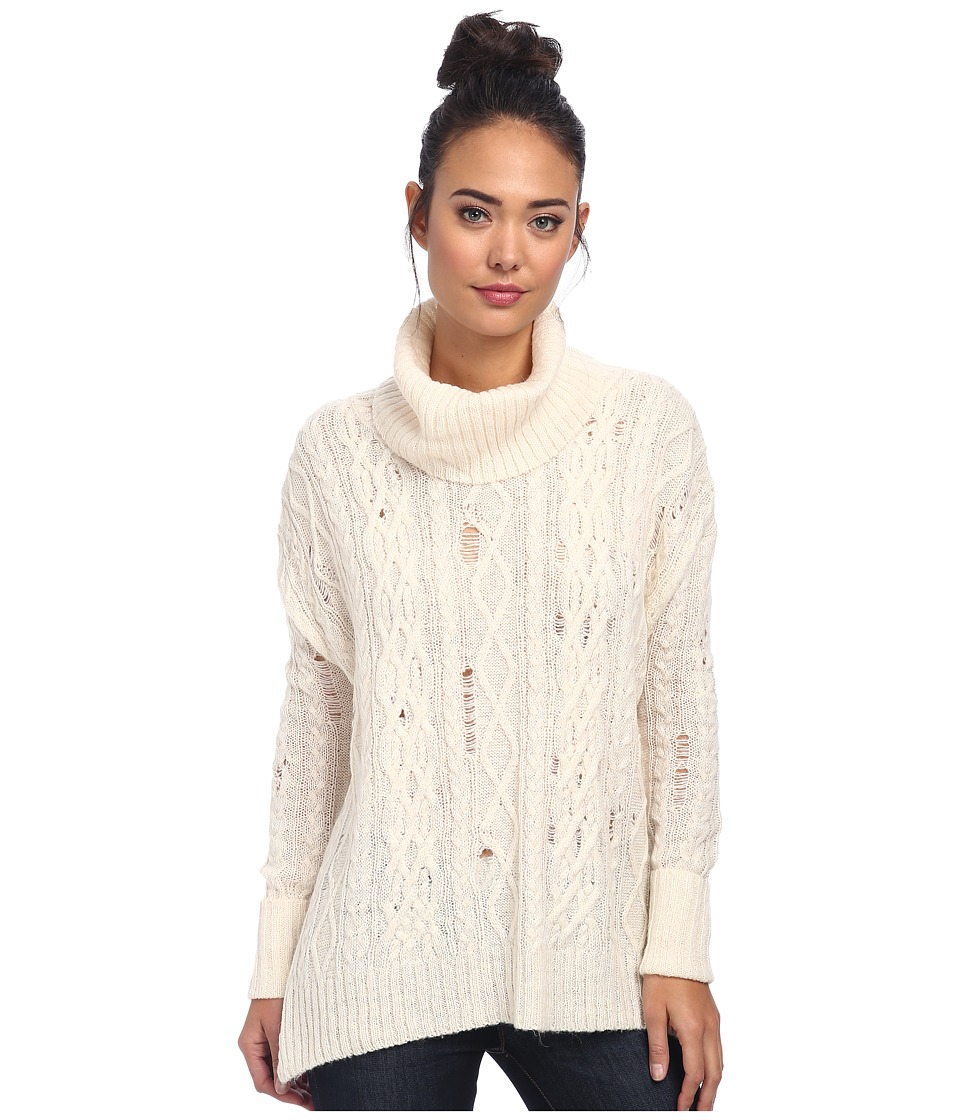 Free People - Complex Cable Pullover (Ivory Combo) Women's Sweater