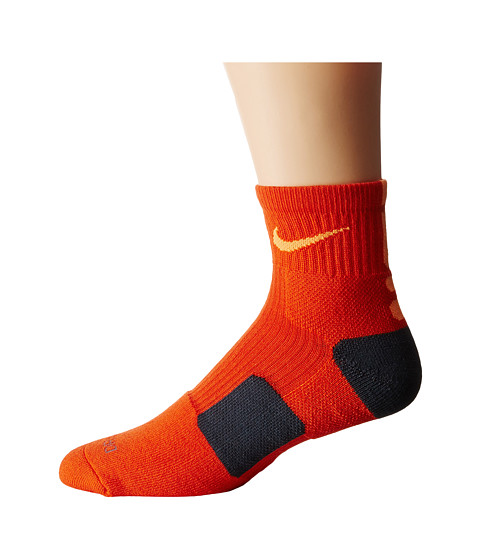 Nike - Elite Basketball HQT (Team Orange/Bright Citrus/Bright Citrus) Quarter Length Socks Shoes